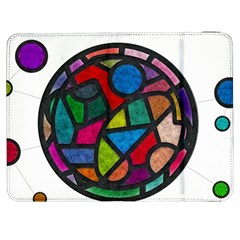 Stained Glass Color Texture Sacra Samsung Galaxy Tab 7  P1000 Flip Case