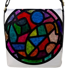 Stained Glass Color Texture Sacra Flap Messenger Bag (s) by BangZart