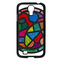Stained Glass Color Texture Sacra Samsung Galaxy S4 I9500/ I9505 Case (black) by BangZart