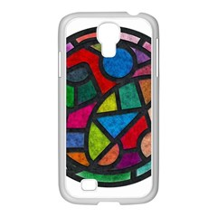 Stained Glass Color Texture Sacra Samsung Galaxy S4 I9500/ I9505 Case (white) by BangZart