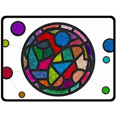 Stained Glass Color Texture Sacra Double Sided Fleece Blanket (large)  by BangZart