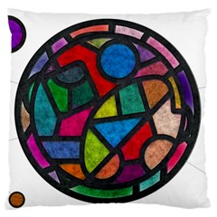 Stained Glass Color Texture Sacra Large Flano Cushion Case (one Side)