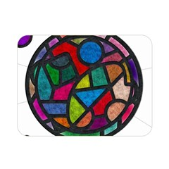 Stained Glass Color Texture Sacra Double Sided Flano Blanket (mini)  by BangZart
