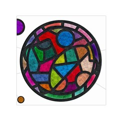 Stained Glass Color Texture Sacra Small Satin Scarf (square)