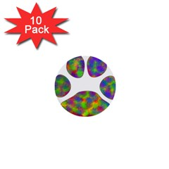 Paw 1  Mini Buttons (10 Pack)