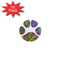 Paw 1  Mini Magnet (10 Pack)