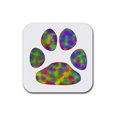 Paw Rubber Square Coaster (4 Pack)  by BangZart