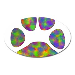 Paw Oval Magnet by BangZart