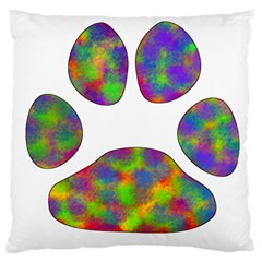 Paw Large Cushion Case (two Sides) by BangZart
