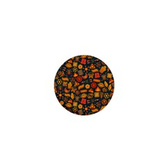 Pattern Background Ethnic Tribal 1  Mini Magnets by BangZart