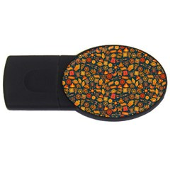 Pattern Background Ethnic Tribal Usb Flash Drive Oval (2 Gb) by BangZart