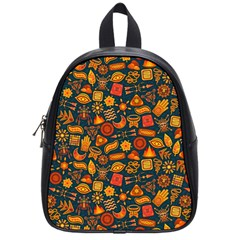 Pattern Background Ethnic Tribal School Bags (small)  by BangZart