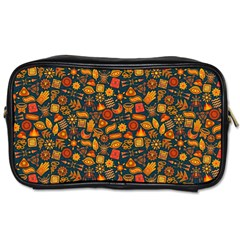 Pattern Background Ethnic Tribal Toiletries Bags 2 Side by BangZart