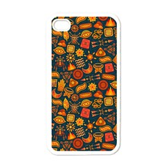 Pattern Background Ethnic Tribal Apple Iphone 4 Case (white) by BangZart