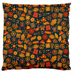 Pattern Background Ethnic Tribal Large Cushion Case (one Side)