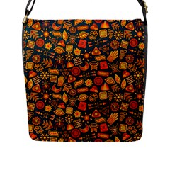 Pattern Background Ethnic Tribal Flap Messenger Bag (l)  by BangZart