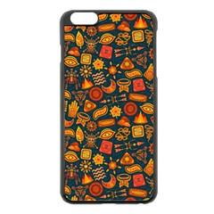 Pattern Background Ethnic Tribal Apple Iphone 6 Plus/6s Plus Black Enamel Case