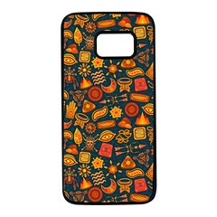 Pattern Background Ethnic Tribal Samsung Galaxy S7 Black Seamless Case