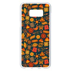 Pattern Background Ethnic Tribal Samsung Galaxy S8 Plus White Seamless Case