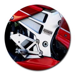 Footrests Motorcycle Page Round Mousepads