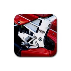 Footrests Motorcycle Page Rubber Square Coaster (4 Pack)  by BangZart