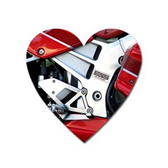 Footrests Motorcycle Page Heart Magnet