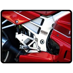 Footrests Motorcycle Page Double Sided Fleece Blanket (large)  by BangZart