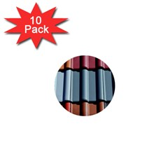 Shingle Roof Shingles Roofing Tile 1  Mini Buttons (10 Pack)