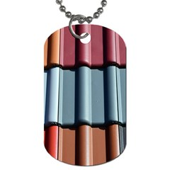 Shingle Roof Shingles Roofing Tile Dog Tag (two Sides) by BangZart