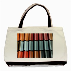 Shingle Roof Shingles Roofing Tile Basic Tote Bag by BangZart