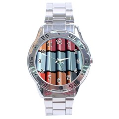 Shingle Roof Shingles Roofing Tile Stainless Steel Analogue Watch