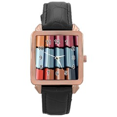 Shingle Roof Shingles Roofing Tile Rose Gold Leather Watch