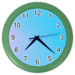 Background Graphics Lines Wave Color Wall Clocks by BangZart