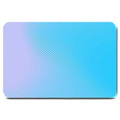 Background Graphics Lines Wave Large Doormat  by BangZart