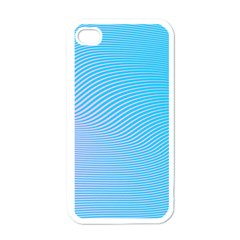 Background Graphics Lines Wave Apple Iphone 4 Case (white)
