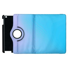 Background Graphics Lines Wave Apple Ipad 3/4 Flip 360 Case by BangZart