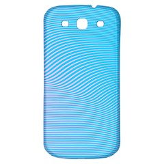 Background Graphics Lines Wave Samsung Galaxy S3 S Iii Classic Hardshell Back Case by BangZart