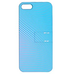 Background Graphics Lines Wave Apple Iphone 5 Hardshell Case With Stand
