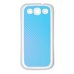 Background Graphics Lines Wave Samsung Galaxy S3 Back Case (white) by BangZart