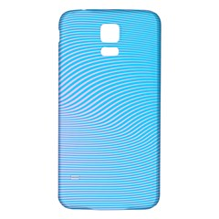Background Graphics Lines Wave Samsung Galaxy S5 Back Case (white) by BangZart
