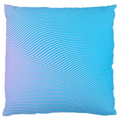 Background Graphics Lines Wave Large Flano Cushion Case (two Sides) by BangZart