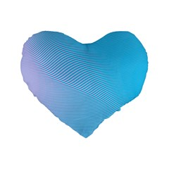 Background Graphics Lines Wave Standard 16  Premium Flano Heart Shape Cushions by BangZart