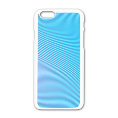 Background Graphics Lines Wave Apple Iphone 6/6s White Enamel Case by BangZart