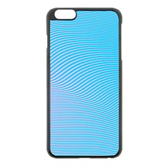 Background Graphics Lines Wave Apple Iphone 6 Plus/6s Plus Black Enamel Case by BangZart
