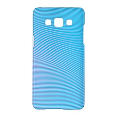 Background Graphics Lines Wave Samsung Galaxy A5 Hardshell Case