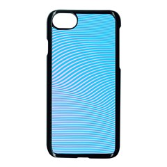 Background Graphics Lines Wave Apple Iphone 7 Seamless Case (black)