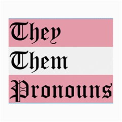 They/them Pronouns Small Glasses Cloth (2 Side) by TransPrints