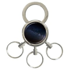 Cosmos Dark Hd Wallpaper Milky Way 3 Ring Key Chains