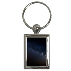 Cosmos Dark Hd Wallpaper Milky Way Key Chains (rectangle)  by BangZart