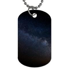 Cosmos Dark Hd Wallpaper Milky Way Dog Tag (one Side)